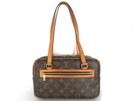 Authentic LOUIS VUITTON Monogram Canvas Leather Cite MM Shoulder Bag - €284,31 EUR