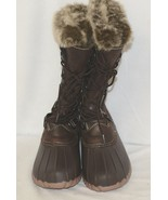 YUU Fiona Brown Synthetic Winter Boots With Fax Fur At The Top 6M - $119.99