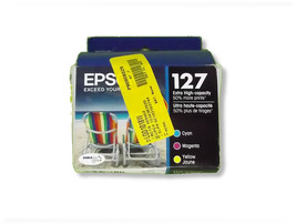 Epson 127 Extra High Capacity Cyan Yellow Magenta Color Cartridge Pack - $53.99