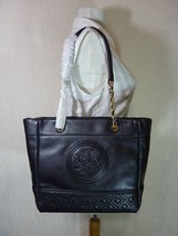 NWT Tory Burch Black Leather Fleming Medium Tote $558 - $502.92