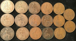 50 Great Britain Pennies 20th Century -- Assorted Coins - $29.95