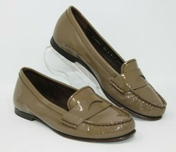 Cole Haan Size 6.5 B AIR Brown Patent Leather Moc Toe Penny Loafers Shoe... - $28.49