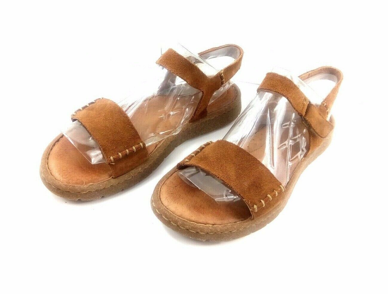 Born Women's Sandals Distressed Brown Leather Slingback Open Toe Comfort Shoes 8