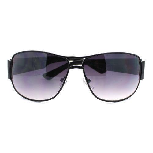 Mens Designer Sunglasses Square Round Aviator Fashion Shades (5 Colors)