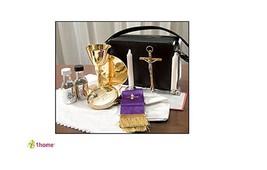 Mass Kit Includes: Chalice Paten Pyx Crucifix 2 Glass Bottles 2 Candles ... - $180.33