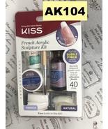 KISS FRENCH ACRYLIC SCULPTURE KIT TIPS LIQUID POWDER GLUE BRUSH ETC AK104 - $10.88