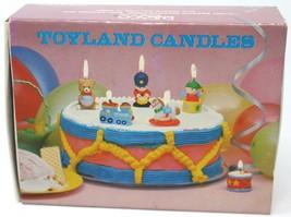 Vintage Enesco Toyland Candles Toy Soldier Train Bear Rocking Horse Jack n Box - $15.79