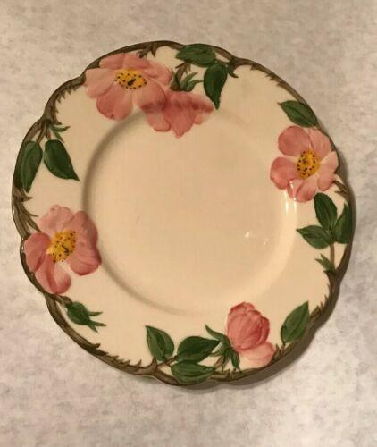 """4 Vintage Franciscan Desert Rose 7 5/8"""" Salad Plate Arch Mark California image 8"""