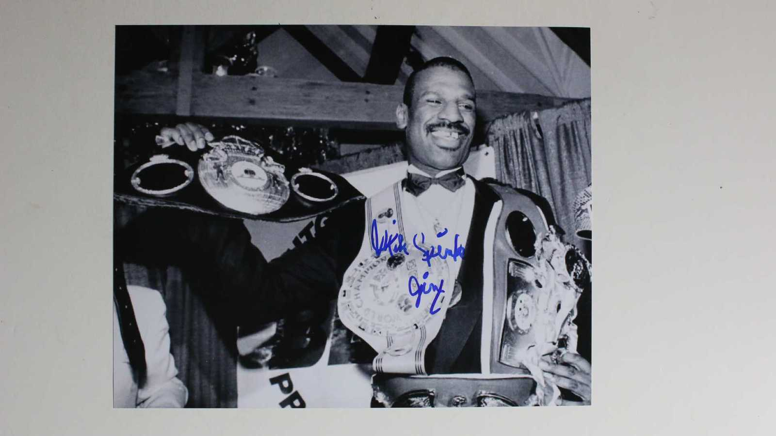 "Primary image for Michael ""Jinx"" Spinks Signed Autographed Glossy 8x10 Photo"