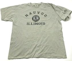 VINTAGE Nauvoo Illinois Shirt Size Extra Large Gray Short Sleeve Comfort... - $17.83