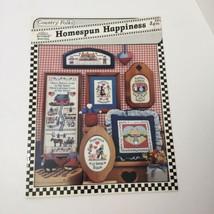Homespun Happiness Country Folks Cross Stitch Pattern Book Jeremiah Junc... - $9.74