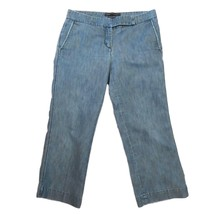 Express Editor Womens Blue Jeans Capris Cropped Pants 6 S - $11.88