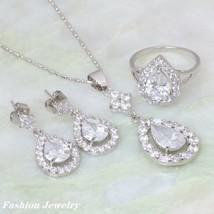 Brand designer Fashion Jewelry Sets white Cubic Zirconia silver Pendant/... - $17.86