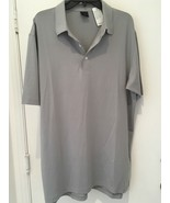 Greg Norman  S  Gray Solid Textured Golf Performance Shirt NWT - $19.36