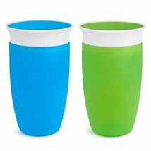 Munchkin Miracle 360 Sippy Cup, Green/Blue, 10 Ounce, 2 Count - $14.36