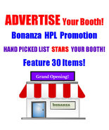Advertise Your Bonanza Business Promote w/Hand-Picked List HPL Booth Promotion - $5.00