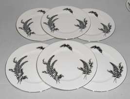 Royal Albert Night and Day Black and White Bone China Cake or Dessert Plates (6) - $32.00