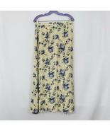 Hunt Club Women's Blue Tan Long Wrap Rayon Flower Tapestry Skirt Size 12 - $19.75