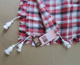 Juicy Couture Scarf Plaid Open Road Red $68 - $37.62