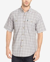 NEW G.H. Bass & Co. Men's Short Sleeve Plaid Woven Shirt