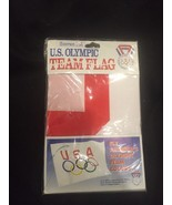 USA OLYMPICS FLAG WITH 5-RINGS 3' X 5' BRAND NEW - $15.85