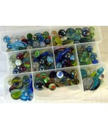 Lot of Glass Marbles Many Hand Blown - $17.81