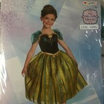 Anna SMALL 4-6X Disney Frozen Movie Child Deluxe Princess Costume Cameo Hallowee - $17.81