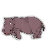 Cute Hippo Car Bumper Sticker Decal 6'' X 3'' - $4.35