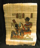 """Ancient Egyptian Art Painting On Papyrus Paper Made In Egypt Handpainted 17""""x12"""" - $13.55"""