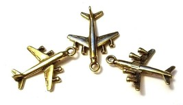 Airplane Airline Jet Fine Pewter Pendant Charm