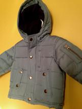NWT OshKosh B'Gosh Baby Boy Unisex Blue Winter Coat Hooded Jacket 18 M $78 - $48.00