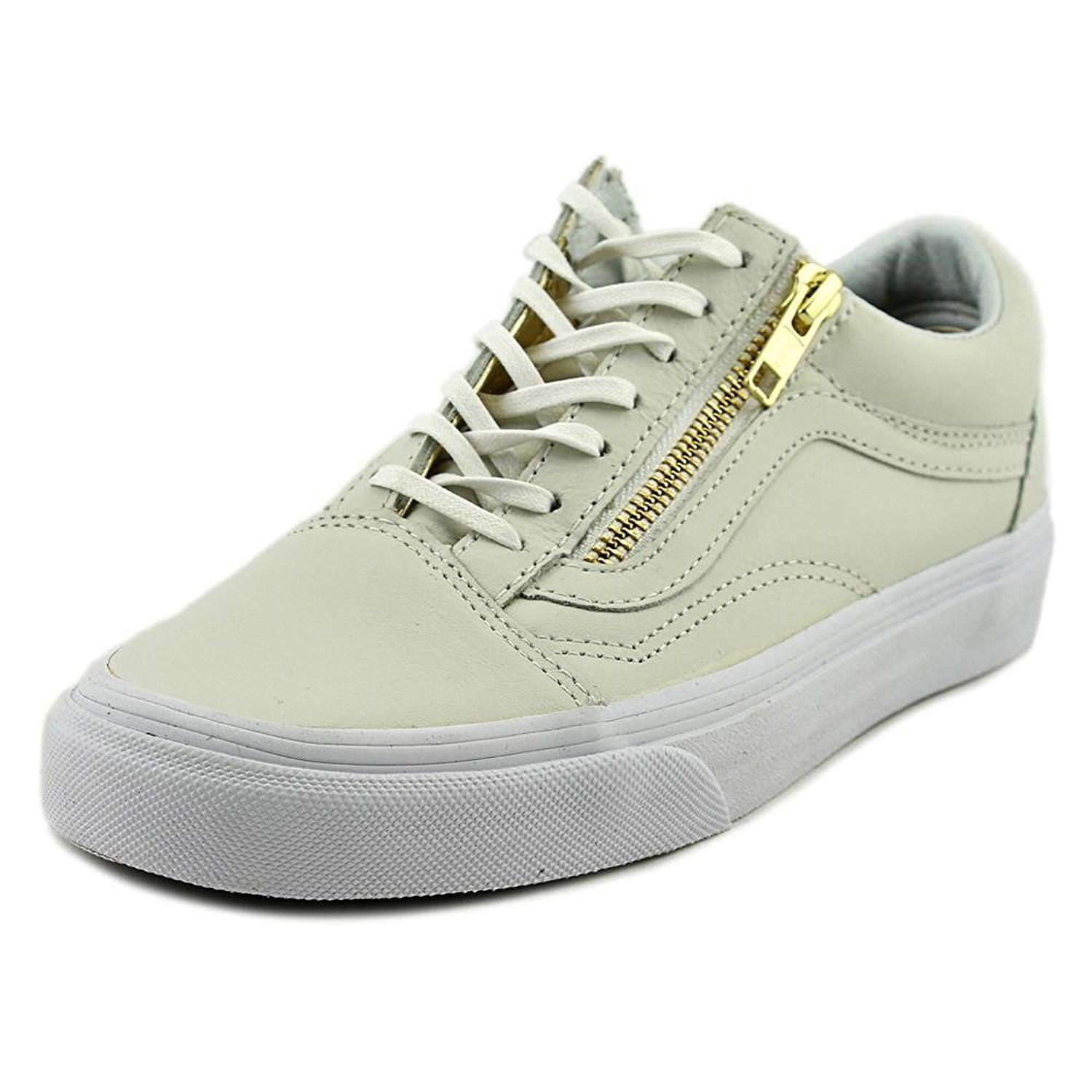 28d0aac623d Vans Old Skool Zip Leather True White Gold and similar items