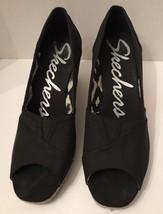 Skechers Wedge Espadrille Sandal Summer Platform Sandal Slip On Peep Toe... - $34.55