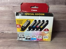 Canon 270XL/CLI-271 5-Pack Special Edition PIXMA MG5722 -Sealed Damaged Box - $58.05