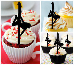 Ca202 Decorations cupcake toppers Exotic Pole dancers Package : 10 pcs - $10.00