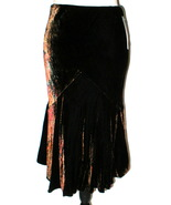 NWT $199 Womens New Ralph Lauren Silk Ray Skirt 4 Copper Red Black Velou... - $43.60
