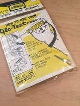 Vintage Globemaster Glo-Test electrical testing screwdriver in original package image 4