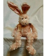 "Russ Berrie Plush Pink Rabbit Cranberry Patch Mimosa Bunny Posable 20"" V... - $29.68"