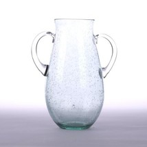 Glitzhome Handcrafted Bubble Glass Vase with Handles - $46.16