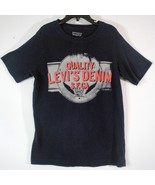 Levi's Denim SF CA Wings T-shirt Navy Blue Distressed Graphic Shirt Boys... - $2.99