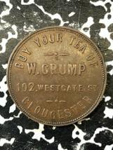 Undated Great Britain Gloucester W. Crump Teas Farthing Token Lot#JM1981 - $32.73