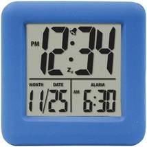 Equity by La Crosse 70905 Soft Cube LCD Alarm Clock (Blue) - $27.48