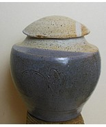 Studio Pottery Jar with Lid Hand Made Speckle Glaze Signed USA - $24.00