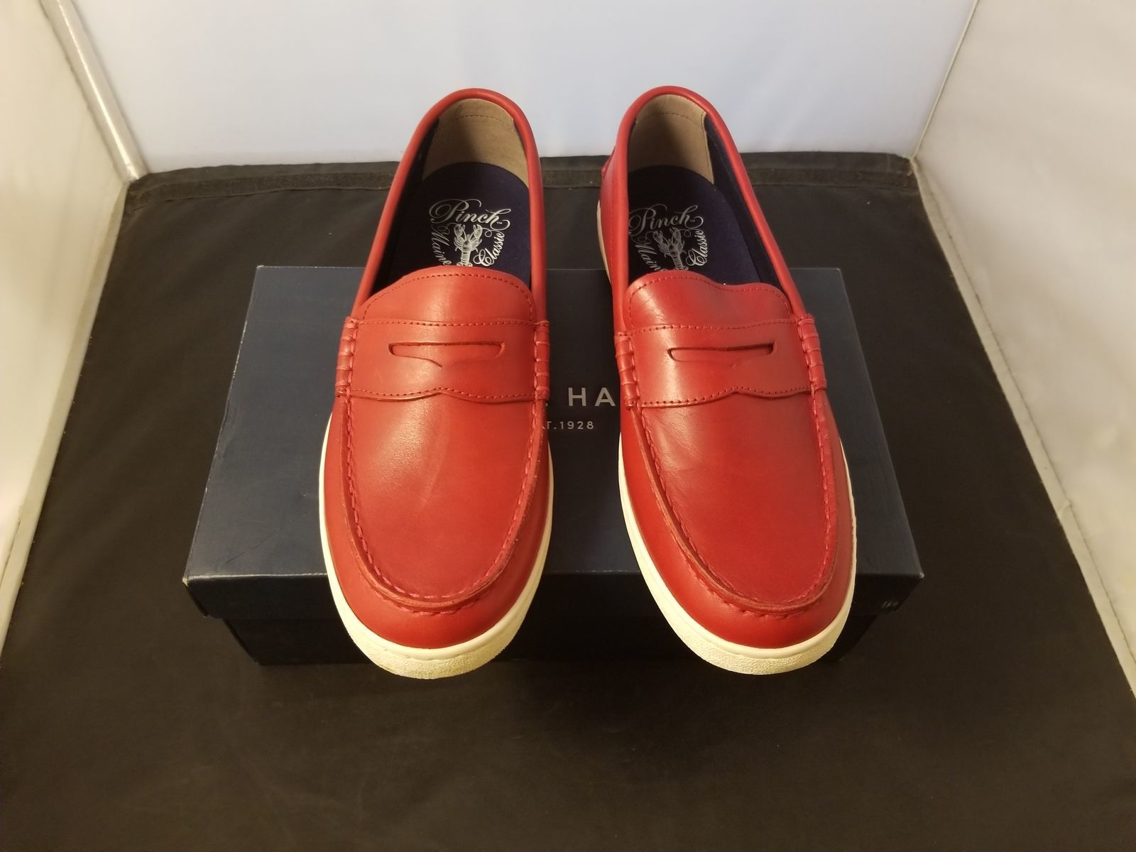 065c40d059e NIB Cole Haan Size 9.5 Medium Pinch Weekender Red Scooter Handsta Leather  Loafer