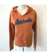 Abercrombie & Fitch Hoodie size XL Orange w/ Blue Logo 1892 Sweatshirt S10 - $27.95