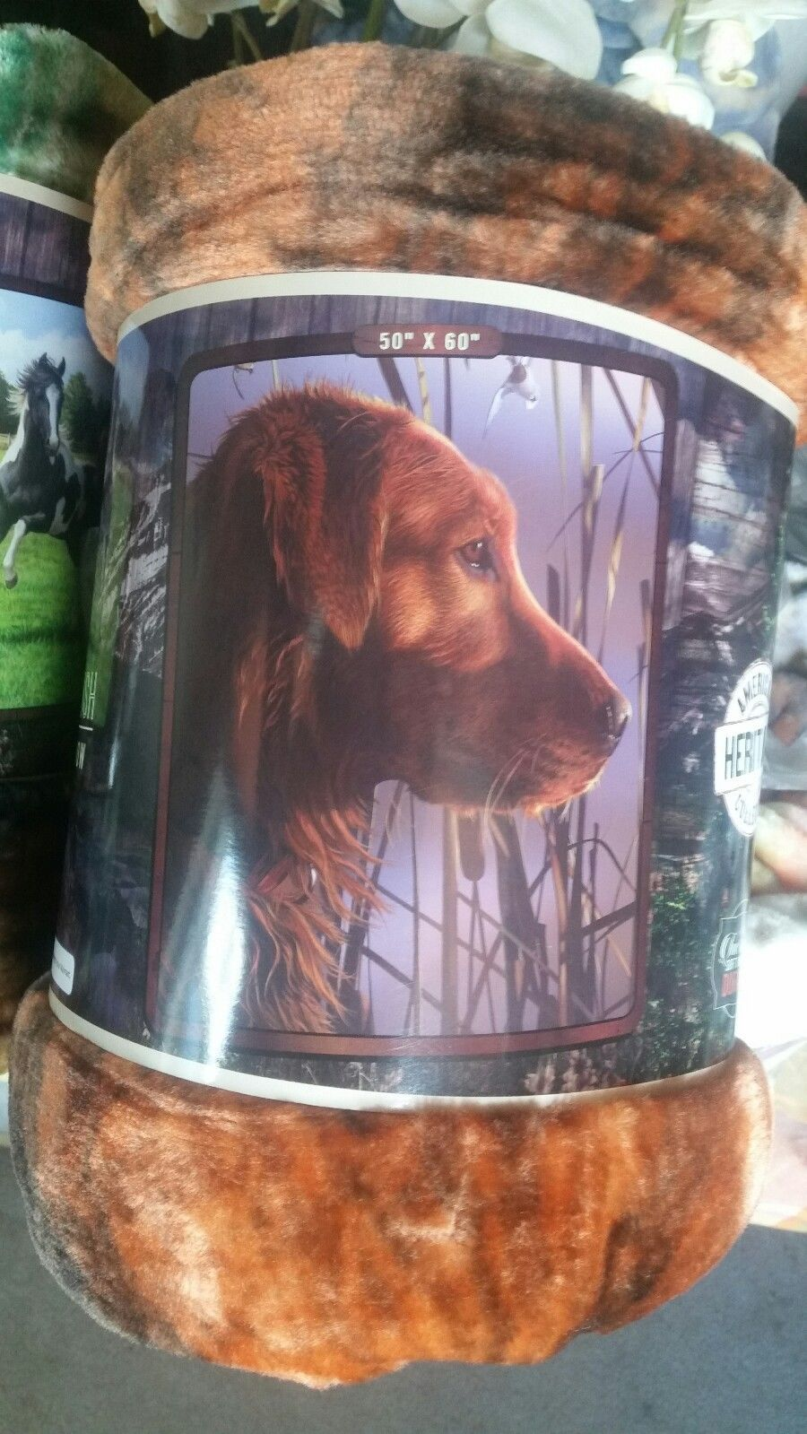 Used, Dog Labrador Retriever American Heritage Woodland Plush Raschel Throw blanket for sale  USA