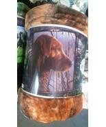 Dog Labrador Retriever American Heritage Woodland Plush Raschel Throw bl... - $23.75