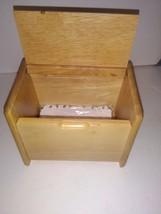 Pfaltzgraff Natural Hardwood Collection Recipe Box  In Box with Recipe C... - $9.99