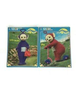 Vintgage 2 Teletubbies Large 12 Piece Jigsaw Puzzle 1998 TINKY WINKY and... - $19.25