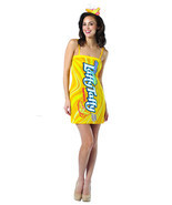 Laffy Taffy Banana tube dress Costume Dress Adult One Size 4-10 - £8.14 GBP